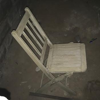 Wood Folding Chair Date
