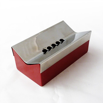 5B ashtray in stainless steel and melamine, Carla Nencioni and Armando Moleri (Zani & Zani, 1970s) - Tobacciana