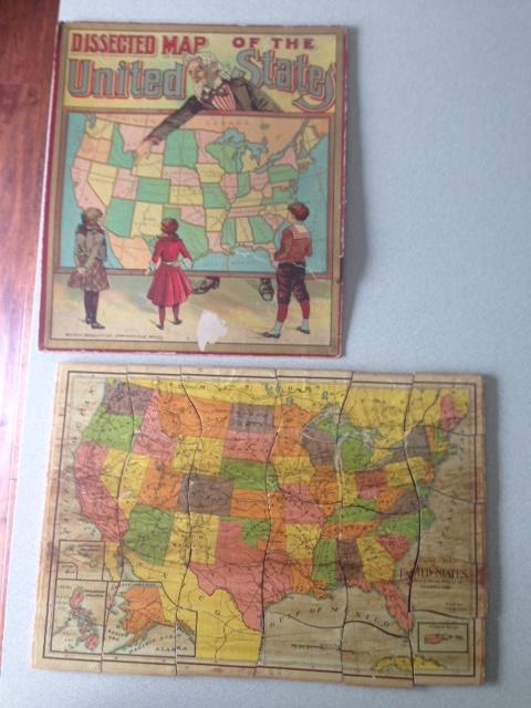 Milton Bradley Dissected Map of the United States wooden puzzle ...