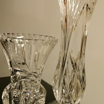 Crystal vases that I just love. - Glassware