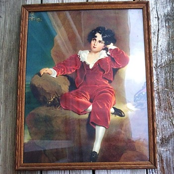 Vintage picture of young boy - Fine Art