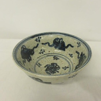 Small Porcelain Bowl, Firing Marks Some Flaws  - China and Dinnerware