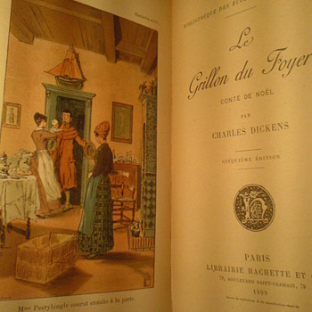 This is an old book,dating 1909 , published by Hachette et Cie,Paris...So precious for me! - Books