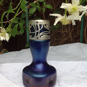 Stoelzle vase - amended to Kralik  - Art Glass