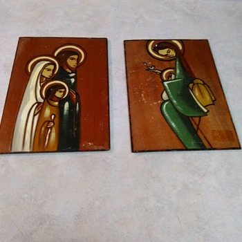 OIL PAINTED ICONS ON WOOD - Fine Art