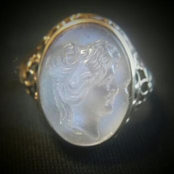 Moonstone Cameo ring.