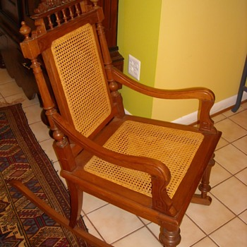 Dutch colonial style rocking chairs-pair - Furniture