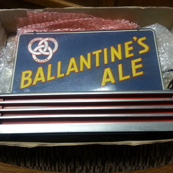 1930's Ballantine Ale edge lit halo sign  - Breweriana