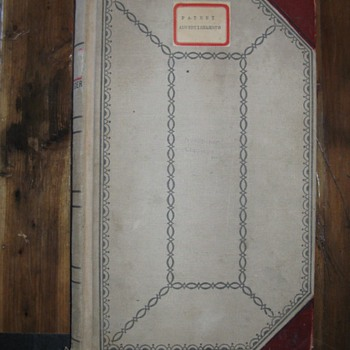 """Early 1900's Nevada Mining Ledger Book Titled """"Patent Advertisments""""  w/Newspaper Clips of Patent Apps & Claim Slips         - Paper"""