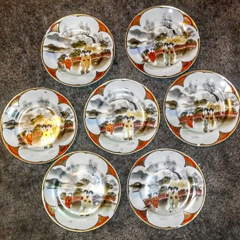 Part 2: Hand painted plates/ saucer plates.