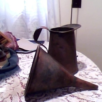 copper pitcher w/ funnel - Tools and Hardware