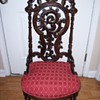 1920 Rosewood Carved Chair