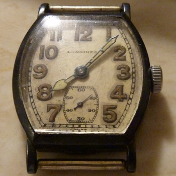 1922 Longines Sterling silver Mens wrist Watch 15 Jewels