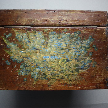 Antique Belgian Hand-Painted Letter Box from Spa - Furniture