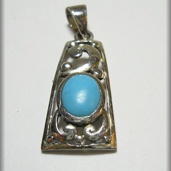 Sterling Silver with Stone - Pendant  - Fine Jewelry