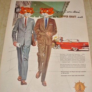 """Clipper Craft """"You're a 'man alive' in a Clipper Craft suit"""" Magazine Ad - Advertising"""