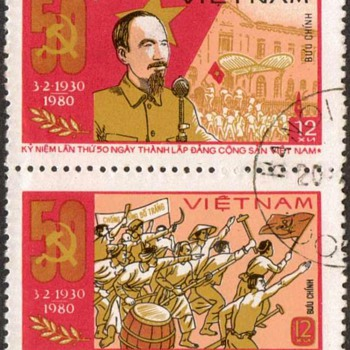 "1980 - Vietnam ""Communist Party"" Postage Stamps - Stamps"