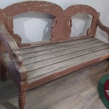 Please help me to identify this one. Swan Garden Bench. - Furniture