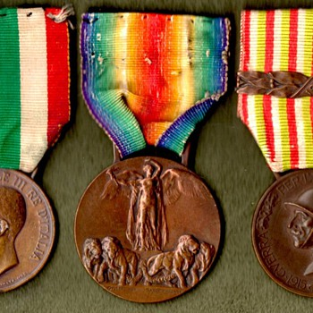 The Italian Victory Medal and It's Companions - Military and Wartime
