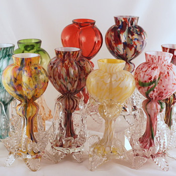 Welz - Shapes and Décor Studies - A Path To Some Answers - Art Glass