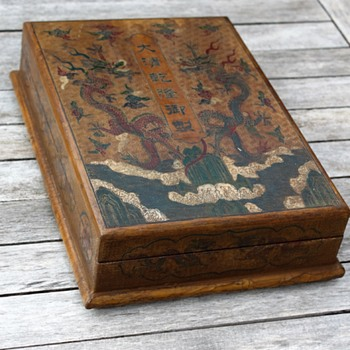 Qianlong ? wooden box - Asian