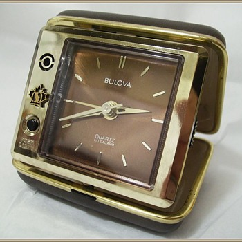 Bulova Travel Alarm Clock ( in Case ) - Clocks