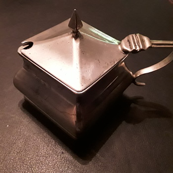 Nice old mustard pot - Silver