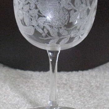 Unknown Etched Stems - Glassware