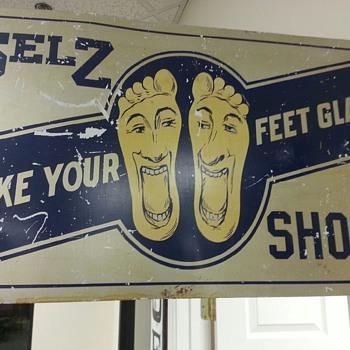 Selz Shoes Flange Sign