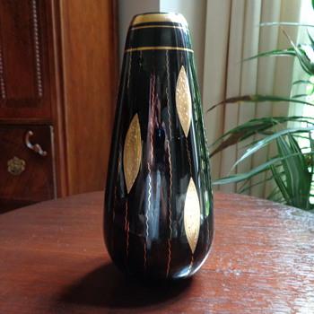 Grandma's Vase - Black Amethyst Glass - Glassware
