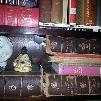 CHARLES LENNOX WRIGHT's EXHIBITS #781 - 86 (Geneological Section / MOYEN AGE et la RENAISSANCE 1851 - five volumes. - Books