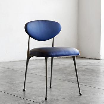 "Shelby Williams ""Gazelle/Impala"" design style cast aluminum armless dining chair - Furniture"