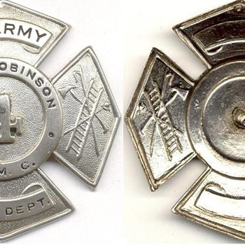 Camp Robinson Fireman's Hat Badge - Firefighting