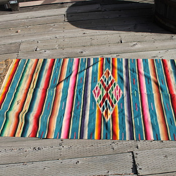 Textile Mexican Serape Blanket  - Native American