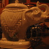White trinket box elephant
