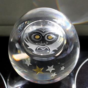 Crystal Daruma by Hoya Japan - Art Glass