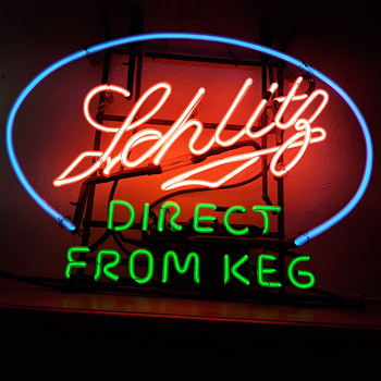 1940's Schlitz neon sign - Signs