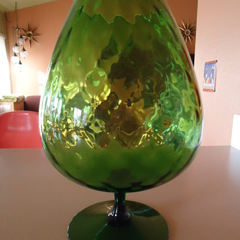 Help identifing huge Goblets ??? or Vases - Art Glass