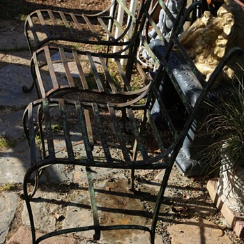 Antique Garden Chairs for the Oakland Fencing Club