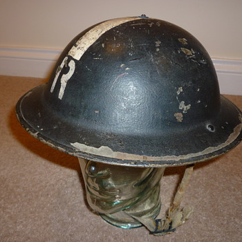 British WW11 Rescue and Demolition steel helmet. - Military and Wartime