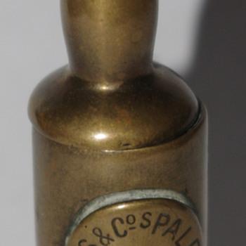 Bass Beer Brass Match Holder/Striker - Tobacciana