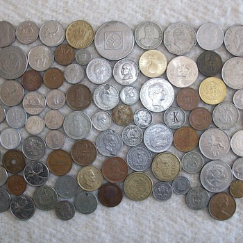 Some Vintage Coins From Different Countries - World Coins