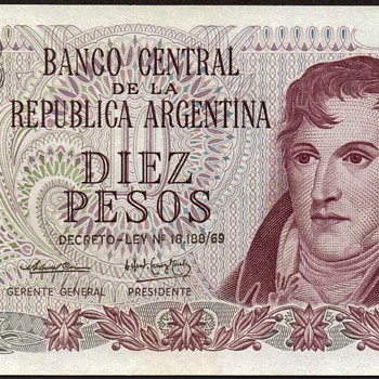 Argentina - (10) Pesos Bank Note