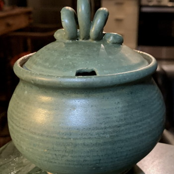 Mustard or Honey Pot - Studio Pottery - Pottery