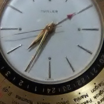Turler swiss vintage world Foldover alarm clock - Clocks