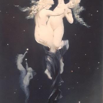 Rare Luis Ricardo Falero Print  - Art Nouveau