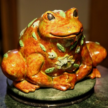 Large Ceramic Toad / Frog by R. B. Lemming