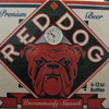 Red Dog Beer sign with Clock