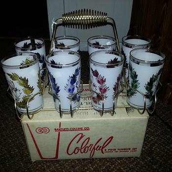 Mid-Century Glasses with Caddy and original box - Glassware