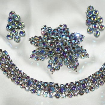 AB Rhinestone Set:  I have No Idea Who Made It - Costume Jewelry
